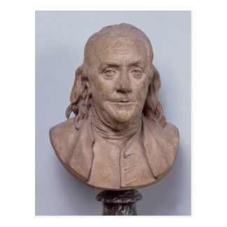Bust of Benjamin Franklin  1778 Postcard