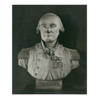 Bust of Charles de Coulomb Poster