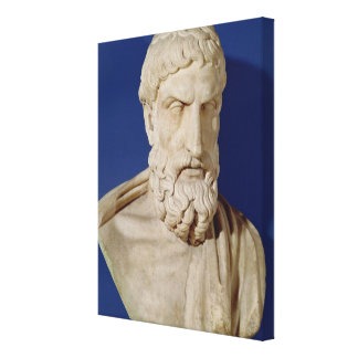 Bust of Epicurus Gallery Wrapped Canvas
