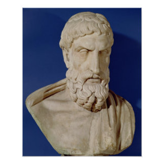 Bust of Epicurus Poster