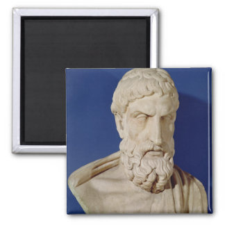 Bust of Epicurus Square Magnet