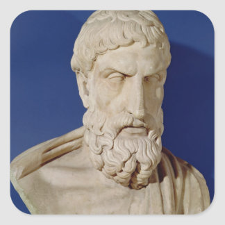 Bust of Epicurus Square Sticker