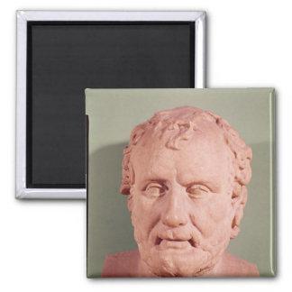 Bust of Eschinus, c.480-476 BC Square Magnet