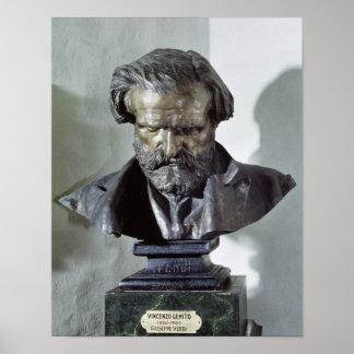 Bust of Giuseppe Verdi Poster