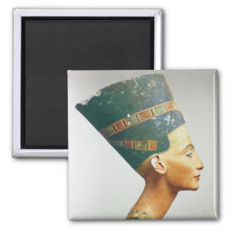 Bust of Queen Nefertiti, side view, from the studi Square Magnet