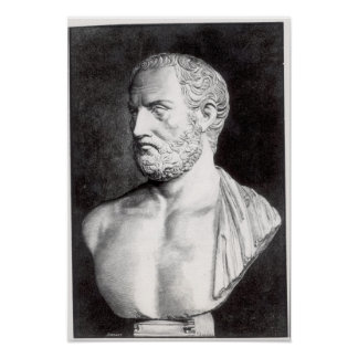 Bust of Thucydides , engraved by Barbant Poster