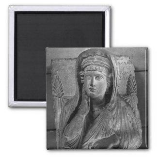 Bust of Ummayat wife of Yarhai Square Magnet