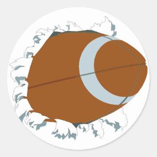 Bust Out Football Sticker