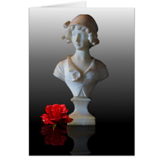 BUST WITH ROSE GREETING CARD