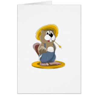 Busted Beaver Greeting Card