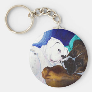 Busted Boxers Basic Round Button Key Ring