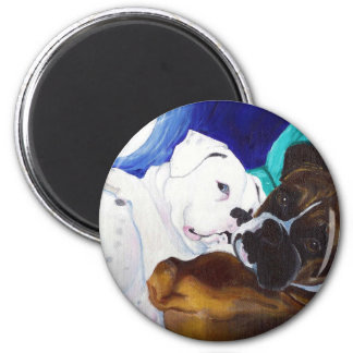 Busted Boxers 6 Cm Round Magnet
