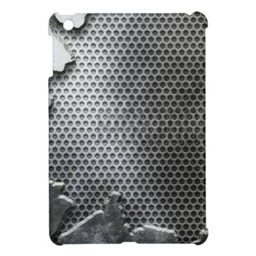 Busted Metal / Chrome Speaker - Mean and Manly iPad Mini Covers