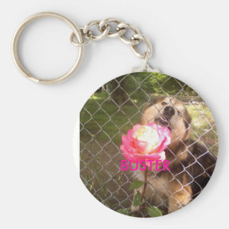 buster, BUSTER Basic Round Button Key Ring