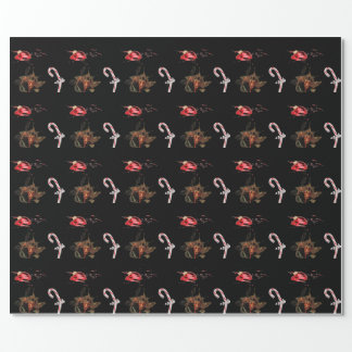 Busting Out Krampus Christmas Wrapping Paper