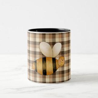 Busy as a Bee Fun Coffee Cup Two-Tone Mug