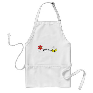 Busy as a Bee Happy Bees and Flowers Cartoon Standard Apron