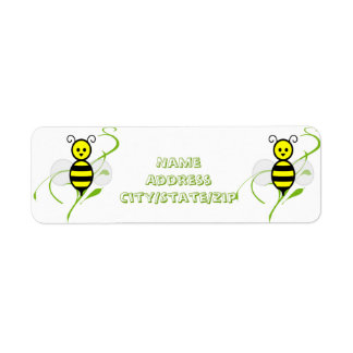 Busy As A Bee Honeybee Return Address Label