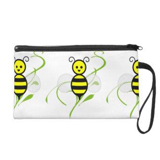 Busy As A Bee Honeybee Wristlet Purse