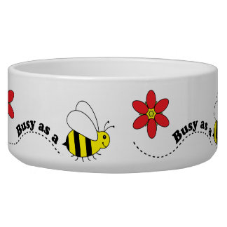 Busy as a Bee Pet Food Bowl for Dog or Cat