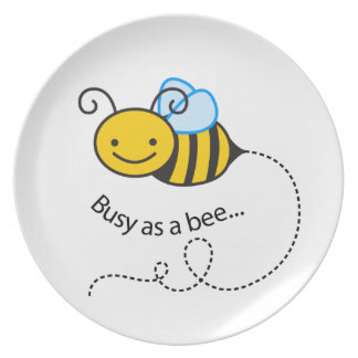 Busy as a  bee plate