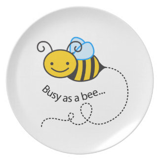 Busy as a  bee plates