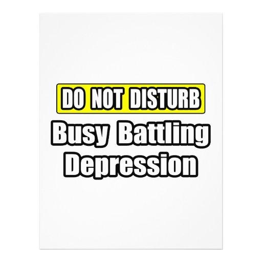 Busy Battling Depression Flyer Design