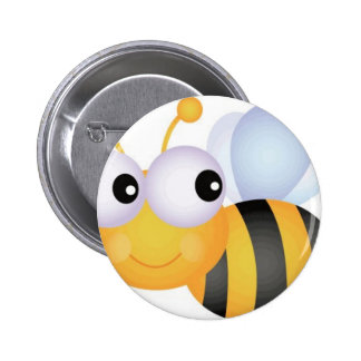 Busy Bee 6 Cm Round Badge