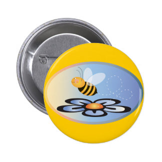 Busy Bee Pinback Buttons