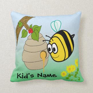 """Busy Bee Cute Kid's 20""""x20"""" American MoJo Pillows Cushion"""