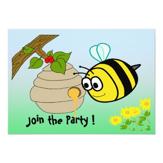 Busy Bee Cute Kid's Party Invitation