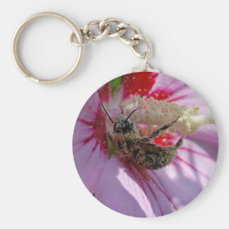 Busy Bee Basic Round Button Key Ring