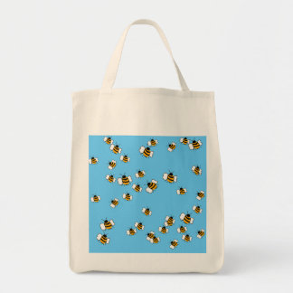 Busy Bee Organic Grocery Tote Bags