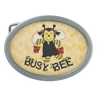 Busy Bee Oval Belt Buckle