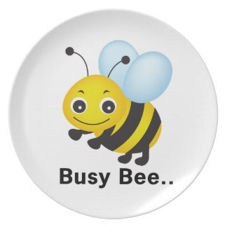 Busy bee party plate