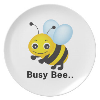 Busy bee party plates