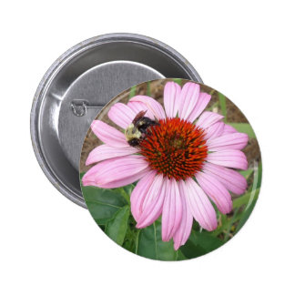 Busy Bee Pinback Button