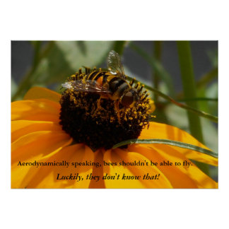 Busy Bee Poster - 28 x 20
