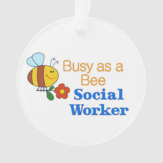 Busy Bee Social Worker Ornament