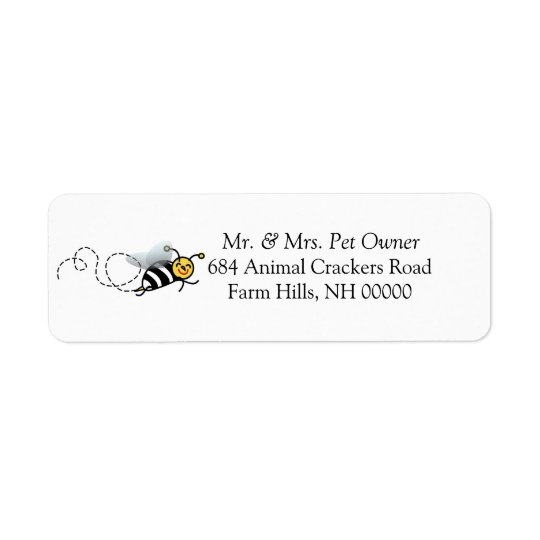Busy Bee Theme Return Address Labels Stickers