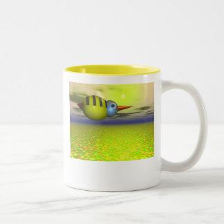 Busy Bee Two-Tone Coffee Mug