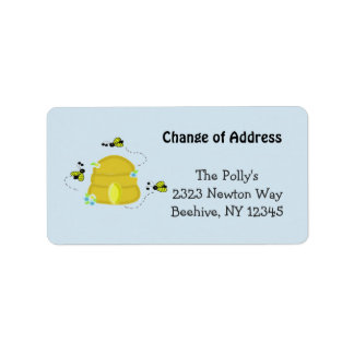 Busy Beehive Our Address Address Label