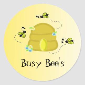 Busy Bee's Classic Round Sticker