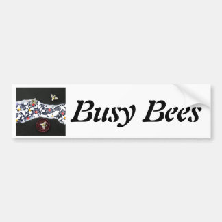 Busy Bees - collage Car Bumper Sticker