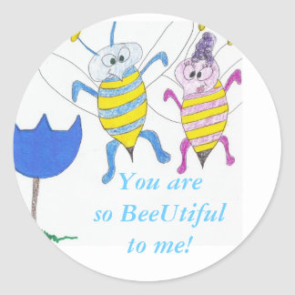 busy bees in love,  sticker