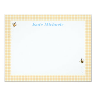 Busy Bees Personalized Stationery Card