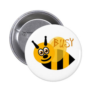Busy Bumble Bee Cute Buttons