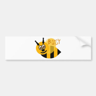 Busy Bumble Bee Cute Car Bumper Sticker