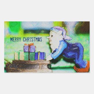 Busy Elf by Shirley Taylor Rectangular Sticker