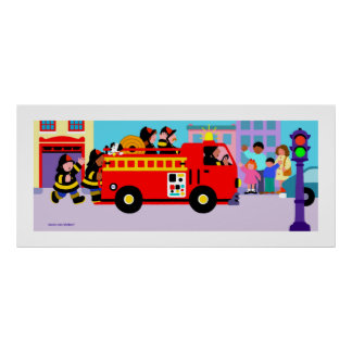 Busy Fire Truck Poster